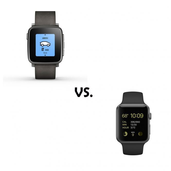 Comparing the Apple Watch vs Pebble Time Steel